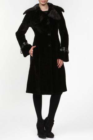 Пальто из норки стриженной Rindi. Цвет: черный