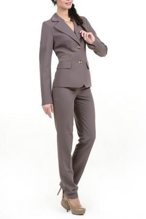 Пиджак ЮККА LESYA. Цвет: коричневый