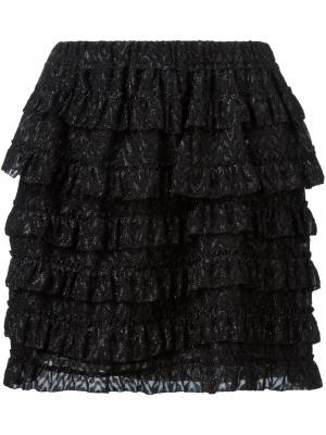 Юбка с оборками Isabel Marant. Цвет: чёрный