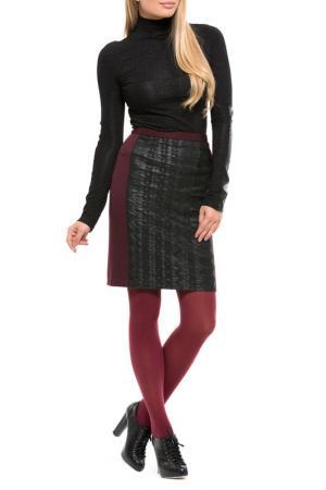 Юбка Gloss. Цвет: коричнево-бордовый, черный