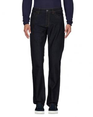 Джинсовые брюки BIKKEMBERGS. Цвет: синий
