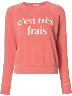 Толстовка Cest Très Frais Mother. Цвет: жёлтый и оранжевый