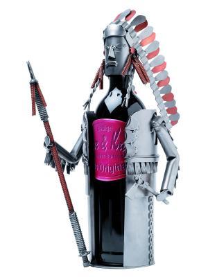 Украшение для бутылки Индеец Hinz&Kunst. Цвет: темно-серый
