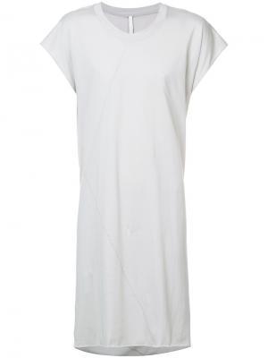Удлиненная футболка Barbara I Gongini. Цвет: серый