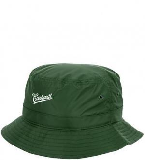 Зеленая шляпа-панама с вышивкой Carhartt WIP. Цвет: зеленый