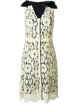 Платье миди с цветочным кружевом Marc Jacobs. Цвет: жёлтый и оранжевый