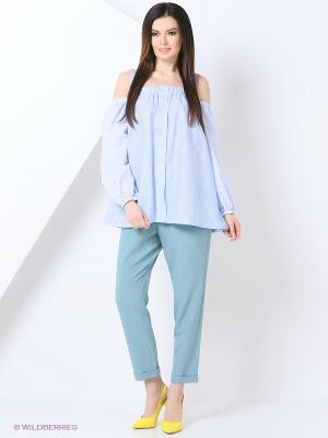 Рубашка Lotus Blue Katya Erokhina. Цвет: голубой