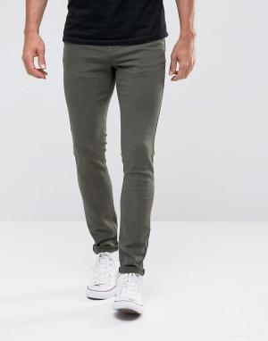 Hoxton Denim Супероблегающие джинсы. Цвет: зеленый