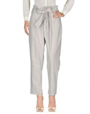 Повседневные брюки 0039 ITALY. Цвет: светло-серый