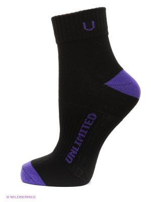 Носки спортивные, 5 пар Unlimited. Цвет: черный, фиолетовый