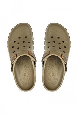 Сабо Crocs. Цвет: хаки