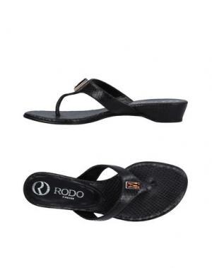 Вьетнамки RODO. Цвет: черный
