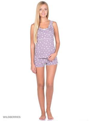 Пижама-майка и шорты NAGOTEX. Цвет: сиреневый