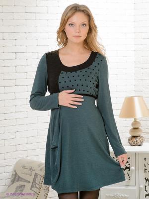 Платье Gemko. Цвет: темно-зеленый, черный