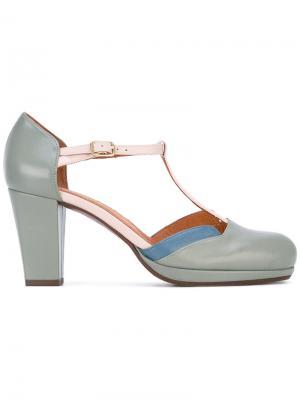 Туфли с Т-образным ремешком Chie Mihara. Цвет: зелёный