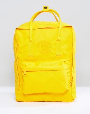 Fjallraven Желтый рюкзак Re-Kanken. Цвет: желтый