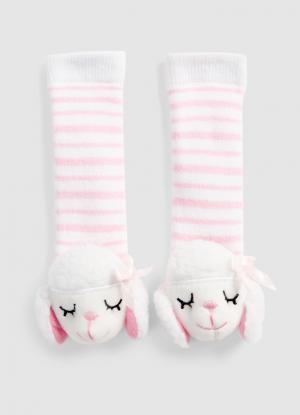 Носки «овечки» для девочек OSTIN. Цвет: белый