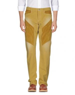 Повседневные брюки 9.2 BY CARLO CHIONNA. Цвет: охра