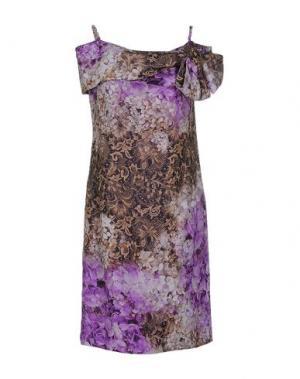 Платье до колена IVAN MONTESI. Цвет: фиолетовый