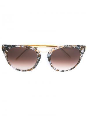 Солнцезащитные очки в оправе кошачий глаз Thierry Lasry. Цвет: чёрный