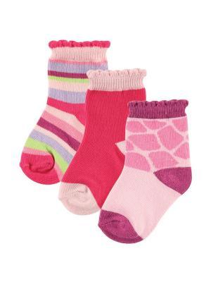 Комплект носочки, 3 шт. Luvable Friends. Цвет: розовый