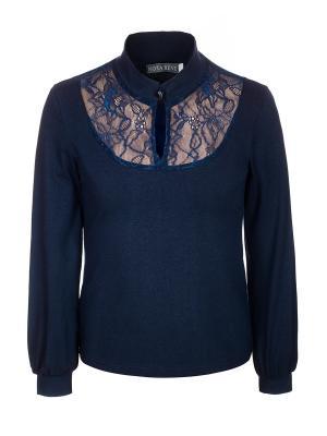 Блузка Nota Bene. Цвет: темно-синий