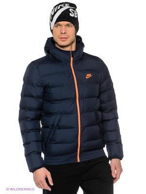 Куртка NIKE JACKET HOODED WERE. Цвет: синий, оранжевый