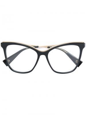 Массивные очки с витой металлической деталью Marc Jacobs Eyewear. Цвет: чёрный