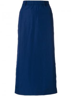 Прямая юбка миди Aspesi. Цвет: синий