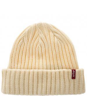 Хлопковая шапка желтого цвета Levi's®. Цвет: желтый