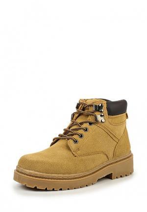 Ботинки 2Moons. Цвет: горчичный