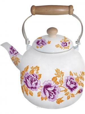 Чайник эмалированный 7л. BOHMANN. Цвет: розовый
