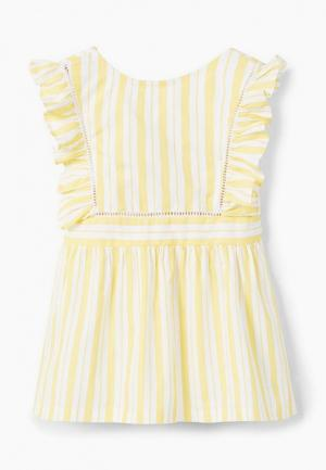 Платье Mango Kids. Цвет: желтый