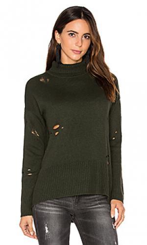 Рваный свитер Autumn Cashmere. Цвет: зеленый