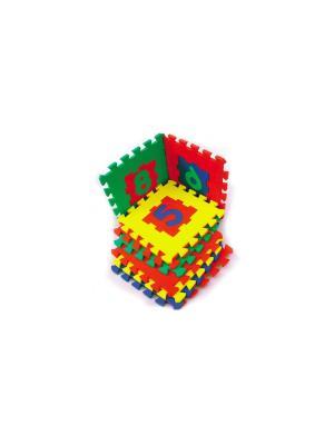 Развивающий коврик Цифры (28х28см, 10 шт.) БОМИК. Цвет: синий, зеленый, красный