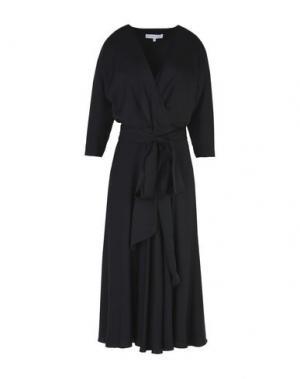 Платье длиной 3/4 ALEXANDER TEREKHOV. Цвет: черный