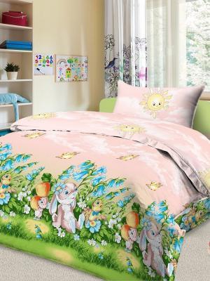 Комплект в кроватку Letto Ясли BGR-22, простыня на резинке, бязь. Цвет: розовый