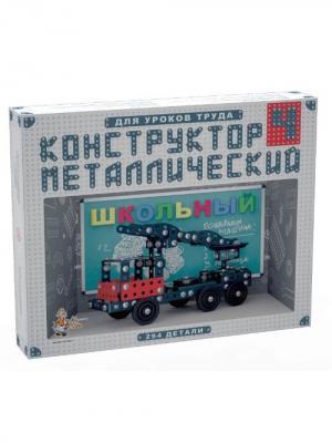 Конструктор металлический для уроков труда Школьный-4 (294 эл) Десятое королевство. Цвет: серый, белый, голубой