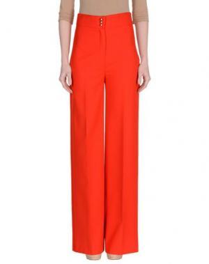 Повседневные брюки MEM.JS. Цвет: красный