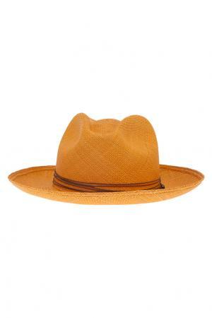 Соломенная шляпа Clasico Brisa Fringes Artesano. Цвет: шафрановый, коричневый