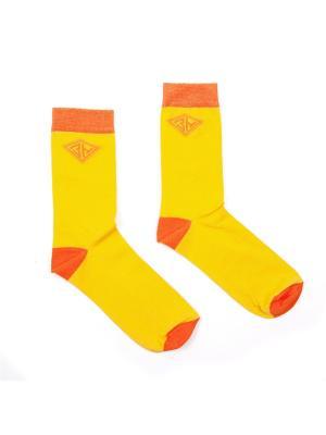 Носки Запорожец. Цвет: желтый