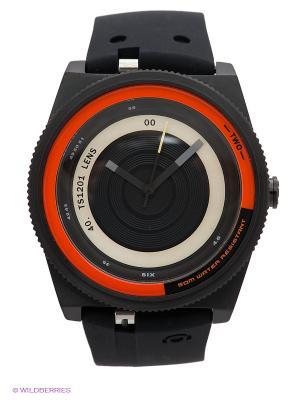 Часы TACS. Цвет: черный, оранжевый