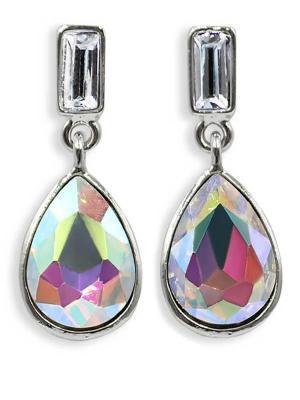 Серьги Taya. Цвет: серебристый, лиловый, прозрачный
