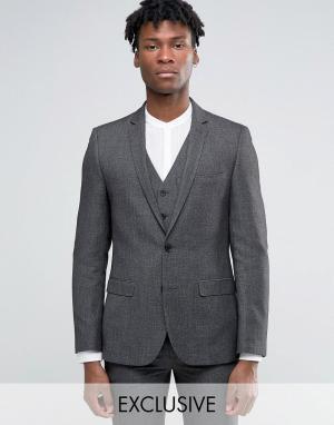 Harry Brown Серый пиджак узкого кроя. Цвет: серый