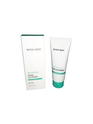 Пенка очищающая  для умывания с коллагеном Royal Skin 150 мл. Цвет: светло-зеленый