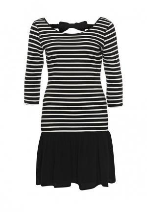 Платье Naf. Цвет: черно-белый