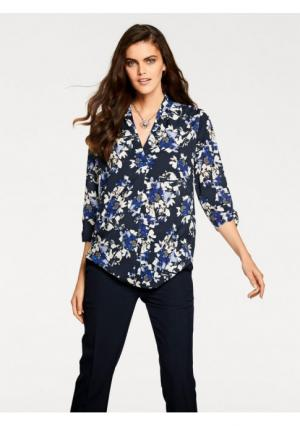 Блузка PATRIZIA DINI. Цвет: темно-синий