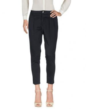 Повседневные брюки ENTRE AMIS. Цвет: темно-синий