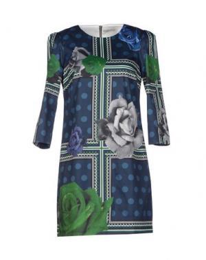 Короткое платье EMMA COOK. Цвет: темно-синий