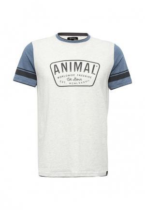 Футболка Animal. Цвет: серый